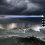 Lighthouse in Storm --- Image by © John Lund/Corbis